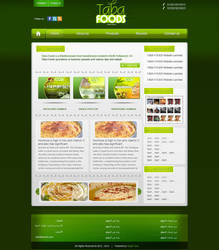 Taba foods.com 2nd layout by Engamin89