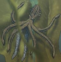 Monkey octopus (Platytentaculum acrobaticus) by AlexSone