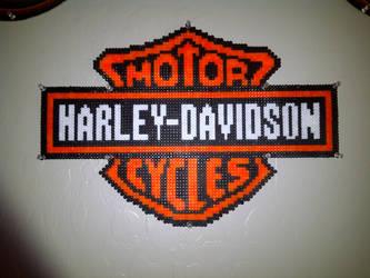 Harley Davidson Motor Cycles Perler Bead Art by HarleyMama23