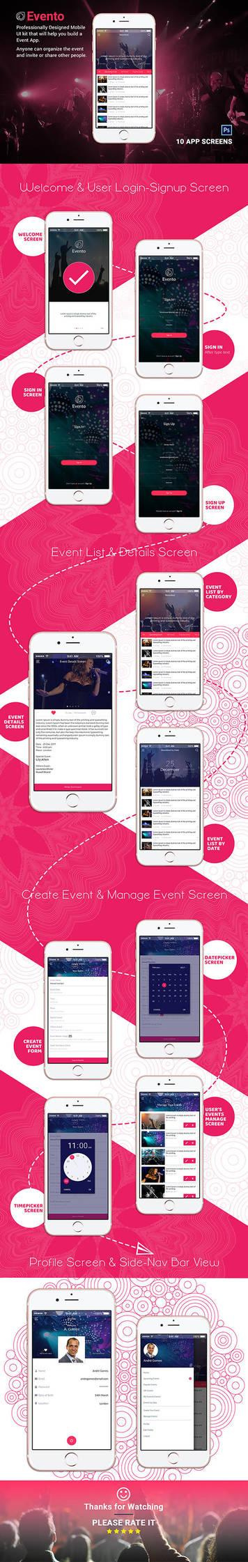 Event Mobile App - EVENTO by designpex