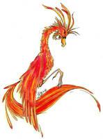 Fawkes the Phoenix by AKrukowska