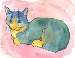 Blue Kitty by AKrukowska