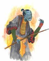 Zombie Samurai by AKrukowska