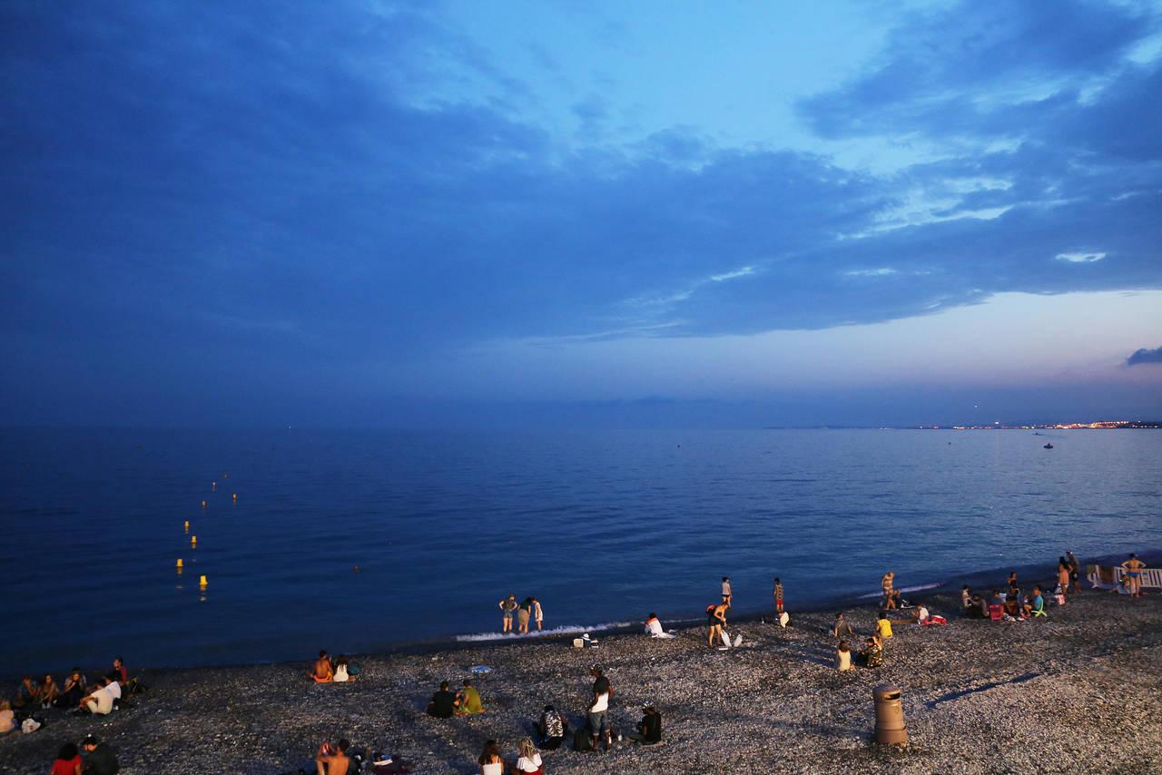 Beach in Nice by AKrukowska