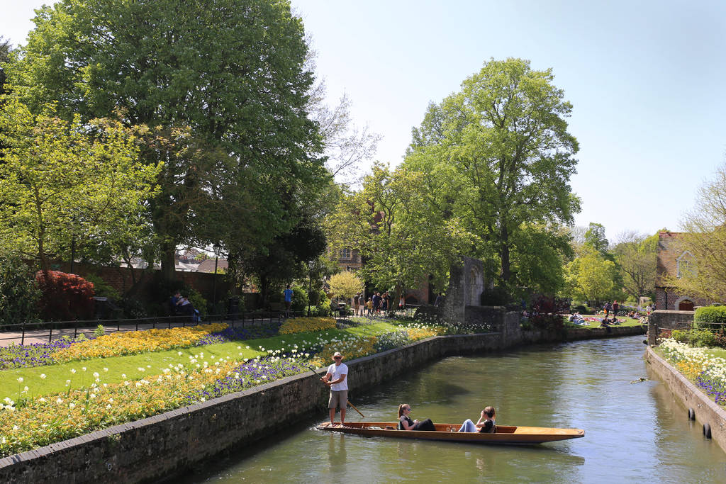 Canterbury on the River Great Stour by AKrukowska