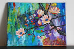 Plum blossom tree by AKrukowska