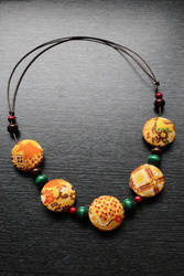 Kimono Fabric Necklace by AKrukowska