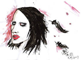 Marilyn Manson angel by AKrukowska