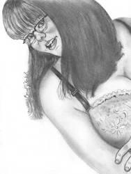 Jess, Glasses, Bra by DavidFolkie