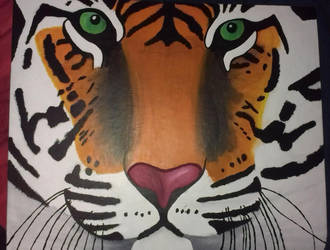 My Main Tiger Painting (2) by Tarni-R