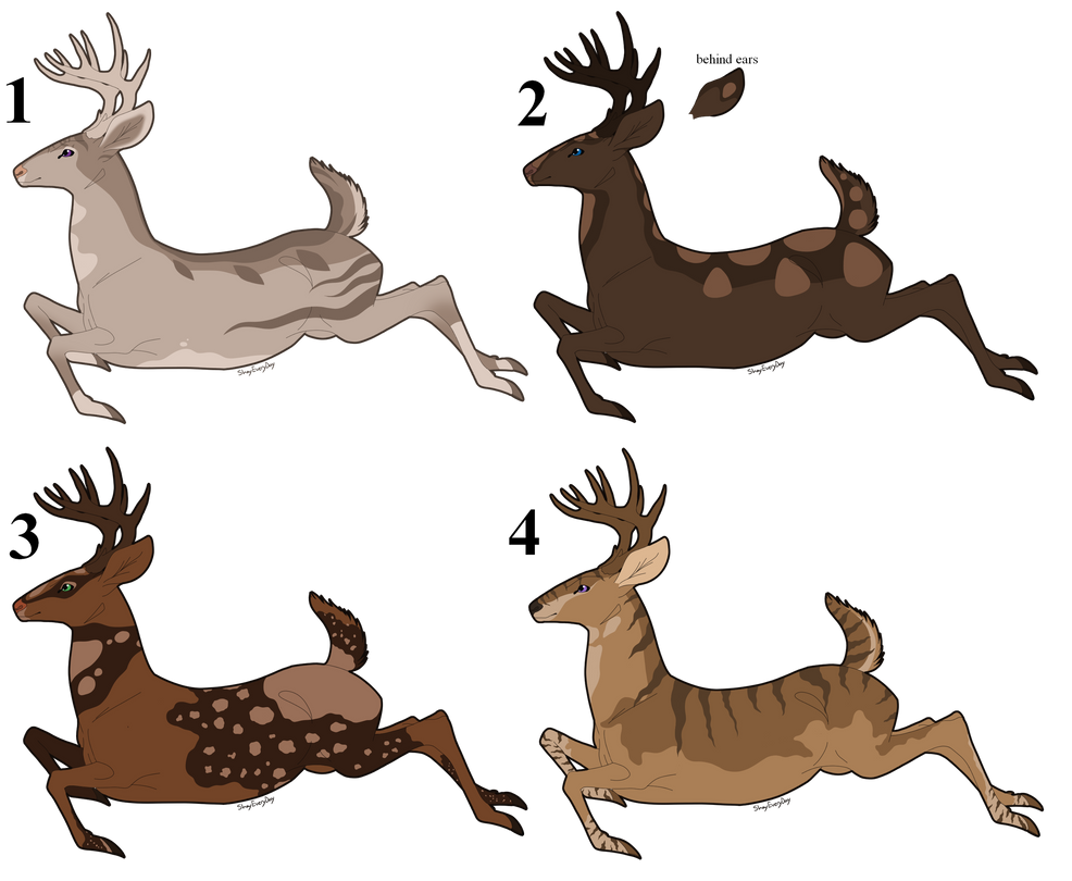 Deer Auction Set 1 (2/4) OPEN by ShadowDawn93