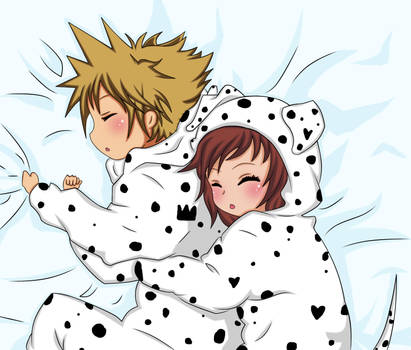 Sora and Kairi- Nap time by Beastwithaddittude