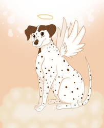 Gretchen the Dog Angel by Beastwithaddittude