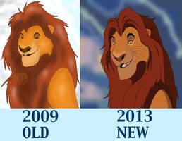 Mufasa Improvment 2009-2013 by Beastwithaddittude