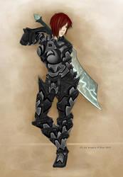 The Obsidian Warrior by daskirtz