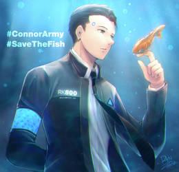 [Fanart] ConnorArmy_SaveTheFish!! by Rintaraz