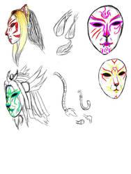 Kabuki Animal Masks by Great-Guardian