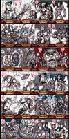 Ironman 2 Sketch Cards p1 by skulljammer