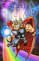 Ye Olde Thor Print by skulljammer