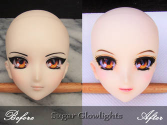 Before/After faceup of DDH-07 by sugar-glowlights