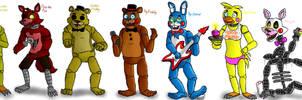 FnAF Characters 1/3 by Shimazun