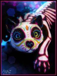 Muerte Meow by Myrcury-Art