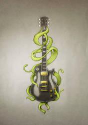 Guitar tattoo by Power-O-F-F