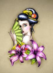 Geisha tattoo by Power-O-F-F