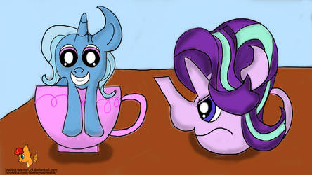 Trixie Teacup and Starlight Teapot by Blazing-Warrior-19