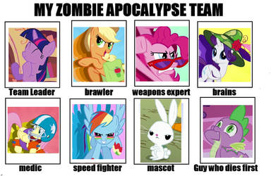 my little zombie apocalypse team by agentbrony