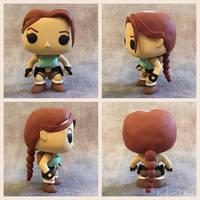 Custom DIY Tomb Raider Lara Croft Funko Pop Figure by TheEclecticNerdShop