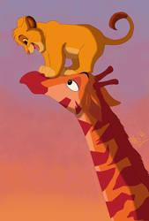 Hey, Mr. Giraffe! by KingSimba