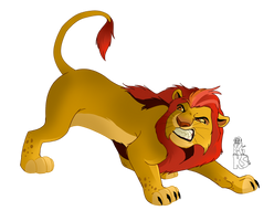 Adult Kion Is Angry by KingSimba