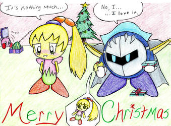Merry Christmas Meta Knight by MischiefLily