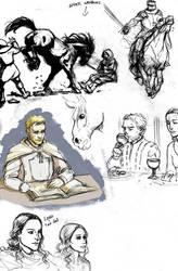 ASoIaF sketch dump by Pojypojy
