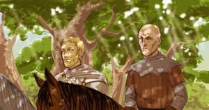ASoIaF: Jaime and ser Ilyn by Pojypojy