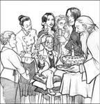Old art: Flitwick's b-day by Pojypojy