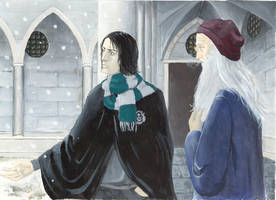 Snape and Dumbledore by Pojypojy