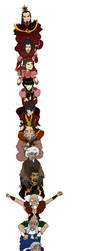 Avatar the last airbender characters on Shoulders! by erinxf