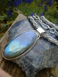 Labradorite Necklace by moonbeebz