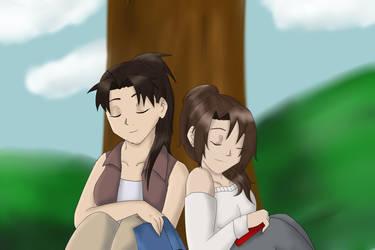 Sleeping under a tree by FullMetalWing