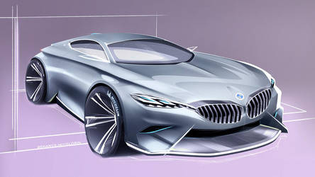 BMW Coupe rendering by GLoRin26