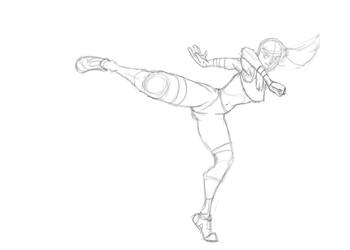 Spin-kick sketch by RWHicks