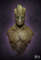Groot Portrait by kevinsalki