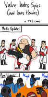 TF2: Valve hates Spies by Pandadrake
