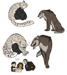 Some Dumbass Animals by Pandadrake