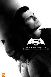 ''Batman V Superman'' B/W by AndrewSS7