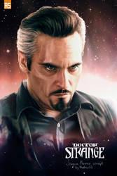 Joaquin Phoenix as Doctor Strange by AndrewSS7
