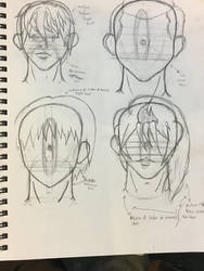 Skull and hair practice by challock