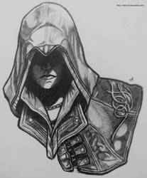 Assass's Creed ll Ezio Drawing in progress by Meck-SF